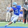 Hamilton College quarterback Kenny Gray (15)<br /> <br /> 9/28/19 2:13:38 PM Football:  Colby College v Hamilton College at Steuben Field, Hamilton College, Clinton, NY<br /> <br /> Final:  Colby 24  Hamilton 45<br /> <br /> Photo by Josh McKee