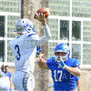 Hamilton College defensive lineman Mike Friedman (17)<br /> <br /> 9/28/19 1:12:22 PM Football:  Colby College v Hamilton College at Steuben Field, Hamilton College, Clinton, NY<br /> <br /> Final:  Colby 24  Hamilton 45<br /> <br /> Photo by Josh McKee