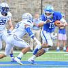 Hamilton College quarterback Kenny Gray (15)<br /> <br /> 9/28/19 2:13:39 PM Football:  Colby College v Hamilton College at Steuben Field, Hamilton College, Clinton, NY<br /> <br /> Final:  Colby 24  Hamilton 45<br /> <br /> Photo by Josh McKee