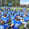 Hamilton College head coach Dave Murray, Team<br /> <br /> 9/28/19 2:59:16 PM Football:  Colby College v Hamilton College at Steuben Field, Hamilton College, Clinton, NY<br /> <br /> Final:  Colby 24  Hamilton 45<br /> <br /> Photo by Josh McKee