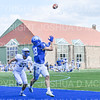 Hamilton College wide receiver Will Budington (18), TOUCHDOWN<br /> <br /> 9/28/19 1:09:27 PM Football:  Colby College v Hamilton College at Steuben Field, Hamilton College, Clinton, NY<br /> <br /> Final:  Colby 24  Hamilton 45<br /> <br /> Photo by Josh McKee