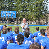 Hamilton College head coach Dave Murray, Team<br /> <br /> 9/28/19 2:59:11 PM Football:  Colby College v Hamilton College at Steuben Field, Hamilton College, Clinton, NY<br /> <br /> Final:  Colby 24  Hamilton 45<br /> <br /> Photo by Josh McKee
