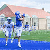 Hamilton College wide receiver Will Budington (18), TOUCHDOWN<br /> <br /> 9/28/19 1:09:28 PM Football:  Colby College v Hamilton College at Steuben Field, Hamilton College, Clinton, NY<br /> <br /> Final:  Colby 24  Hamilton 45<br /> <br /> Photo by Josh McKee