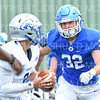 Hamilton College linebacker Mike Cairns (32)<br /> <br /> 9/28/19 2:20:18 PM Football:  Colby College v Hamilton College at Steuben Field, Hamilton College, Clinton, NY<br /> <br /> Final:  Colby 24  Hamilton 45<br /> <br /> Photo by Josh McKee
