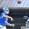 Hamilton College quarterback Gus Mahler (19)<br /> <br /> 9/28/19 11:08:54 AM Football:  Colby College v Hamilton College at Steuben Field, Hamilton College, Clinton, NY<br /> <br /> Final:  Colby 24  Hamilton 45<br /> <br /> Photo by Josh McKee