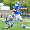 Hamilton College quarterback Kenny Gray (15)<br /> <br /> 9/28/19 2:24:37 PM Football:  Colby College v Hamilton College at Steuben Field, Hamilton College, Clinton, NY<br /> <br /> Final:  Colby 24  Hamilton 45<br /> <br /> Photo by Josh McKee
