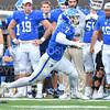 Hamilton College running back Joe Park (7)<br /> <br /> 9/28/19 2:45:23 PM Football:  Colby College v Hamilton College at Steuben Field, Hamilton College, Clinton, NY<br /> <br /> Final:  Colby 24  Hamilton 45<br /> <br /> Photo by Josh McKee