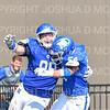 Hamilton College defensive lineman Alex Ganter (99), TOUCHDOWN, Celebration, Hamilton College linebacker Sam Ratcliffe (54)<br /> <br /> 9/28/19 1:19:10 PM Football:  Colby College v Hamilton College at Steuben Field, Hamilton College, Clinton, NY<br /> <br /> Final:  Colby 24  Hamilton 45<br /> <br /> Photo by Josh McKee