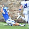 Hamilton College quarterback Kenny Gray (15)<br /> <br /> 9/28/19 2:49:54 PM Football:  Colby College v Hamilton College at Steuben Field, Hamilton College, Clinton, NY<br /> <br /> Final:  Colby 24  Hamilton 45<br /> <br /> Photo by Josh McKee