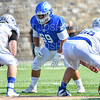 Hamilton College defensive lineman Patrick McDermott (69)<br /> <br /> 9/28/19 1:23:25 PM Football:  Colby College v Hamilton College at Steuben Field, Hamilton College, Clinton, NY<br /> <br /> Final:  Colby 24  Hamilton 45<br /> <br /> Photo by Josh McKee