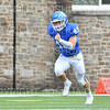 Hamilton College linebacker Jake Valensi (43)<br /> <br /> 9/28/19 2:26:33 PM Football:  Colby College v Hamilton College at Steuben Field, Hamilton College, Clinton, NY<br /> <br /> Final:  Colby 24  Hamilton 45<br /> <br /> Photo by Josh McKee