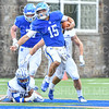 Hamilton College quarterback Kenny Gray (15)<br /> <br /> 9/28/19 2:13:40 PM Football:  Colby College v Hamilton College at Steuben Field, Hamilton College, Clinton, NY<br /> <br /> Final:  Colby 24  Hamilton 45<br /> <br /> Photo by Josh McKee