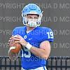 Hamilton College quarterback Gus Mahler (19)<br /> <br /> 9/28/19 11:09:17 AM Football:  Colby College v Hamilton College at Steuben Field, Hamilton College, Clinton, NY<br /> <br /> Final:  Colby 24  Hamilton 45<br /> <br /> Photo by Josh McKee