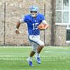 Hamilton College quarterback Kenny Gray (15)<br /> <br /> 9/28/19 2:24:36 PM Football:  Colby College v Hamilton College at Steuben Field, Hamilton College, Clinton, NY<br /> <br /> Final:  Colby 24  Hamilton 45<br /> <br /> Photo by Josh McKee