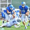 Hamilton College quarterback Kenny Gray (15), TOUCHDOWN<br /> <br /> 9/28/19 1:06:50 PM Football:  Colby College v Hamilton College at Steuben Field, Hamilton College, Clinton, NY<br /> <br /> Final:  Colby 24  Hamilton 45<br /> <br /> Photo by Josh McKee