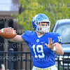 Hamilton College quarterback Gus Mahler (19)<br /> <br /> 9/28/19 11:08:38 AM Football:  Colby College v Hamilton College at Steuben Field, Hamilton College, Clinton, NY<br /> <br /> Final:  Colby 24  Hamilton 45<br /> <br /> Photo by Josh McKee