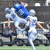 Hamilton College wide receiver Will Budington (18)<br /> <br /> 9/28/19 1:31:24 PM Football:  Colby College v Hamilton College at Steuben Field, Hamilton College, Clinton, NY<br /> <br /> Final:  Colby 24  Hamilton 45<br /> <br /> Photo by Josh McKee