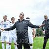 Team, Hamilton College head coach Perry Nizzi<br /> <br /> 9/7/19 1:30:40 PM Men's Soccer: Bates College v Hamilton College at Love Field, Hamilton College, Clinton, NY<br /> <br /> Final: Bates 3   Hamilton 1<br /> <br /> Photo by Josh McKee