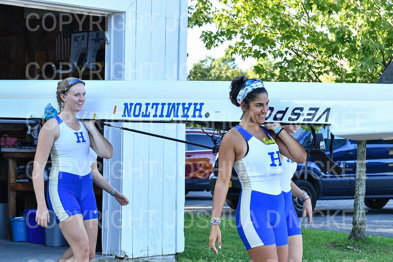 9/16/19 4:51:40 PM Hamilton College Rowing at the Rome Boathouse on the Erie Canal in Rome, NY<br /> <br /> Photo by Josh McKee