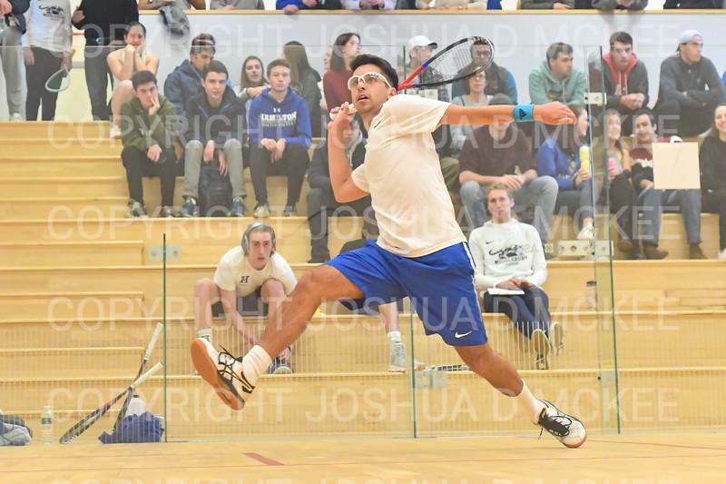 11/16/19 3:24:37 PM Squash:  Middlebury College v Hamilton College at Little Squash Center, Hamilton College, Clinton, NY<br /> <br /> Photo by Josh McKee