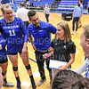 Hamilton College head coach Kristin Baker, Team<br /> <br /> 9/20/19 6:50:54 PM Women's Volleyball:  Cazenovia College vs Hamilton College, at Margaret Bundy Scott Field House, Hamilton College, Clinton, NY<br /> <br /> Final: Cazenovia 0   Hamilton 3<br /> <br /> Photo by Josh McKee