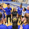 Hamilton College head coach Kristin Baker, Team<br /> <br /> 9/20/19 6:51:17 PM Women's Volleyball:  Cazenovia College vs Hamilton College, at Margaret Bundy Scott Field House, Hamilton College, Clinton, NY<br /> <br /> Final: Cazenovia 0   Hamilton 3<br /> <br /> Photo by Josh McKee