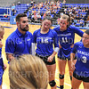 Hamilton College assistant coach Sam Haimann, Team<br /> <br /> 9/20/19 7:46:20 PM Women's Volleyball:  Cazenovia College vs Hamilton College, at Margaret Bundy Scott Field House, Hamilton College, Clinton, NY<br /> <br /> Final: Cazenovia 0   Hamilton 3<br /> <br /> Photo by Josh McKee