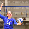 Hamilton College middle blocker Dorothy Poucher (14)<br /> <br /> 9/20/19 7:05:00 PM Women's Volleyball:  Cazenovia College vs Hamilton College, at Margaret Bundy Scott Field House, Hamilton College, Clinton, NY<br /> <br /> Final: Cazenovia 0   Hamilton 3<br /> <br /> Photo by Josh McKee