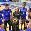Hamilton College head coach Kristin Baker, Team<br /> <br /> 9/20/19 6:51:21 PM Women's Volleyball:  Cazenovia College vs Hamilton College, at Margaret Bundy Scott Field House, Hamilton College, Clinton, NY<br /> <br /> Final: Cazenovia 0   Hamilton 3<br /> <br /> Photo by Josh McKee