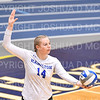 Hamilton College middle blocker Dorothy Poucher (14)<br /> <br /> 9/27/19 8:27:26 PM Women's Volleyball:  Williams College vs Hamilton College, at Margaret Bundy Scott Field House, Hamilton College, Clinton, NY<br /> <br /> Final: Willliams 3  Hamilton 0<br /> <br /> Photo by Josh McKee