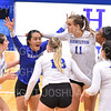 Hamilton College L/DS Nikki Matsuoka (2), Team, Celebration<br /> <br /> 9/27/19 8:29:13 PM Women's Volleyball:  Williams College vs Hamilton College, at Margaret Bundy Scott Field House, Hamilton College, Clinton, NY<br /> <br /> Final: Willliams 3  Hamilton 0<br /> <br /> Photo by Josh McKee