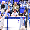 Hamilton College middle blocker Dorothy Poucher (14)<br /> <br /> 9/27/19 8:27:11 PM Women's Volleyball:  Williams College vs Hamilton College, at Margaret Bundy Scott Field House, Hamilton College, Clinton, NY<br /> <br /> Final: Willliams 3  Hamilton 0<br /> <br /> Photo by Josh McKee
