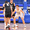 Hamilton College guard Elliott Tirbaso (13)<br /> <br /> 11/20/19 8:42:59 PM Men's Basketball:  Bard College v Hamilton College at Margaret Bundy Scott Field House, Hamilton College, Clinton, NY<br /> <br /> Final:  Bard 57   Hamilton 101<br /> <br /> Photo by Josh McKee