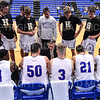 Hamilton College head coach Adam Stockwell, Team<br /> <br /> 11/20/19 8:31:30 PM Men's Basketball:  Bard College v Hamilton College at Margaret Bundy Scott Field House, Hamilton College, Clinton, NY<br /> <br /> Final:  Bard 57   Hamilton 101<br /> <br /> Photo by Josh McKee