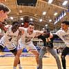 Team, Hamilton College guard Nkosi Cooper (30), Hamilton College guard Nick Osarenren (4), Hamilton College forward Mike McEneney (50)<br /> <br /> 11/20/19 8:32:49 PM Men's Basketball:  Bard College v Hamilton College at Margaret Bundy Scott Field House, Hamilton College, Clinton, NY<br /> <br /> Final:  Bard 57   Hamilton 101<br /> <br /> Photo by Josh McKee