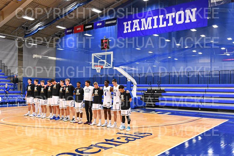 Team<br /> <br /> 11/20/19 8:29:42 PM Men's Basketball:  Bard College v Hamilton College at Margaret Bundy Scott Field House, Hamilton College, Clinton, NY<br /> <br /> Final:  Bard 57   Hamilton 101<br /> <br /> Photo by Josh McKee