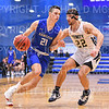 Hamilton College G/F Spencer Kendall (21)<br /> <br /> 2/15/20 4:05:55 PM Men's Basketball:  Trinity College v Hamilton College at Margaret Bundy Scott Field House, Hamilton College, Clinton, NY<br /> <br /> Final:  Trinity 71   Hamilton 90<br /> <br /> Photo by Josh McKee