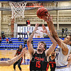 Hamilton College guard Kena Gilmour (24)<br /> <br /> 2/2/20 2:04:50 PM Men's Basketball:  Wesleyan University v Hamilton College at Margaret Bundy Scott Field House, Hamilton College, Clinton, NY<br /> <br /> Final:  Wesleyan 67    Hamilton 78 <br /> <br /> Photo by Josh McKee