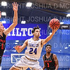 Hamilton College guard Kena Gilmour (24)<br /> <br /> 2/2/20 2:04:46 PM Men's Basketball:  Wesleyan University v Hamilton College at Margaret Bundy Scott Field House, Hamilton College, Clinton, NY<br /> <br /> Final:  Wesleyan 67    Hamilton 78 <br /> <br /> Photo by Josh McKee