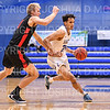 Hamilton College guard Kena Gilmour (24)<br /> <br /> 2/2/20 2:04:45 PM Men's Basketball:  Wesleyan University v Hamilton College at Margaret Bundy Scott Field House, Hamilton College, Clinton, NY<br /> <br /> Final:  Wesleyan 67    Hamilton 78 <br /> <br /> Photo by Josh McKee