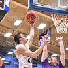 Hamilton College G/F Spencer Kendall (21)<br /> <br /> 1/10/20 8:06:25 PM Men's Basketball:  Williams College v Hamilton College at Margaret Bundy Scott Field House, Hamilton College, Clinton, NY<br /> <br /> Final:  Williams 78   Hamilton 79<br /> <br /> Photo by Josh McKee
