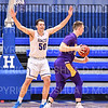 Hamilton College forward Mike McEneney (50)<br /> <br /> 1/10/20 8:03:43 PM Men's Basketball:  Williams College v Hamilton College at Margaret Bundy Scott Field House, Hamilton College, Clinton, NY<br /> <br /> Final:  Williams 78   Hamilton 79<br /> <br /> Photo by Josh McKee