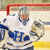 Hamilton College goaltender Anthony Tirabassi (34)<br /> <br /> 11/22/19 7:29:19 PM Men's Hockey:  Wesleyan University v Hamilton College at Russell Sage Rink, Hamilton College, Clinton, NY<br /> <br /> Final:  Wesleyan 4   Hamilton 5<br /> <br /> Photo by Josh McKee