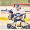 Hamilton College goaltender Sean Storr (29)<br /> <br /> 11/22/19 7:29:57 PM Men's Hockey:  Wesleyan University v Hamilton College at Russell Sage Rink, Hamilton College, Clinton, NY<br /> <br /> Final:  Wesleyan 4   Hamilton 5<br /> <br /> Photo by Josh McKee