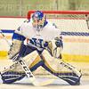 Hamilton College goaltender Sean Storr (29)<br /> <br /> 11/22/19 7:29:44 PM Men's Hockey:  Wesleyan University v Hamilton College at Russell Sage Rink, Hamilton College, Clinton, NY<br /> <br /> Final:  Wesleyan 4   Hamilton 5<br /> <br /> Photo by Josh McKee