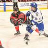 Hamilton College forward Jon Beniers (16)<br /> <br /> 11/22/19 8:05:23 PM Men's Hockey:  Wesleyan University v Hamilton College at Russell Sage Rink, Hamilton College, Clinton, NY<br /> <br /> Final:  Wesleyan 4   Hamilton 5<br /> <br /> Photo by Josh McKee