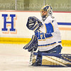Hamilton College goaltender Pete Negron (1)<br /> <br /> 11/22/19 7:30:09 PM Men's Hockey:  Wesleyan University v Hamilton College at Russell Sage Rink, Hamilton College, Clinton, NY<br /> <br /> Final:  Wesleyan 4   Hamilton 5<br /> <br /> Photo by Josh McKee