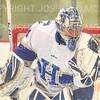 Hamilton College goaltender Anthony Tirabassi (34)<br /> <br /> 11/22/19 7:27:03 PM Men's Hockey:  Wesleyan University v Hamilton College at Russell Sage Rink, Hamilton College, Clinton, NY<br /> <br /> Final:  Wesleyan 4   Hamilton 5<br /> <br /> Photo by Josh McKee