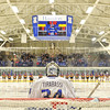 Hamilton College goaltender Anthony Tirabassi (34)<br /> <br /> 12/6/19 7:58:03 PM Men's Hockey: #13 Williams College v Hamilton College at Russell Sage Rink, Hamilton College, Clinton, NY<br /> <br /> Final:  Williams 0   Hamilton 1<br /> <br /> Photo by Josh McKee