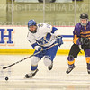 Hamilton College defender Bennett Morrison (14)<br /> <br /> 12/6/19 8:04:26 PM Men's Hockey: #13 Williams College v Hamilton College at Russell Sage Rink, Hamilton College, Clinton, NY<br /> <br /> Final:  Williams 0   Hamilton 1<br /> <br /> Photo by Josh McKee